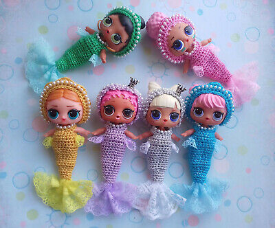 LOL Mermaid. Outfit Mermaid and diadem for the LOL doll. Mermaid tail for LOL