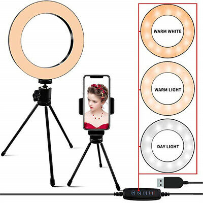 Selfie LED Ring Light Mini Camera Lights 3Mode For YouTube,Makeup Live Broadcast