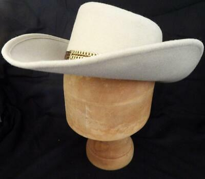 Vintage Eddy Brothers of California 100% wool Western Hat Size 7 Large
