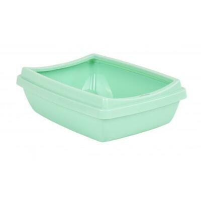 42cm Cat Litter Tray With Rim Lid Plastic Box Pet Kitten Toilet Training Pan Loo