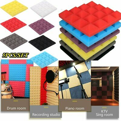 Lots Acoustic Wall Panels Sound Proofing Foam Pads Studio Treatments