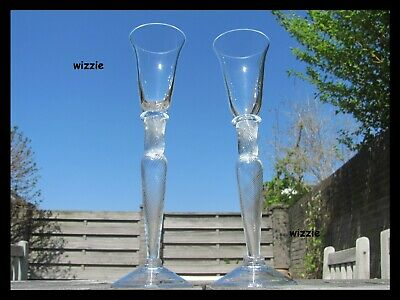BOREK SIPEK : two crystal drinking glasses, hand-made ( signed / signiert )