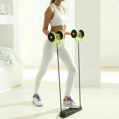 Abdominal Power Waist Roll AB Trainer Slim Double Core Wheel Exercise Fitness