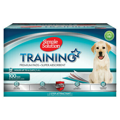 Simple Solution Puppy Dog Pet Toilet Training Pads 100 Pack