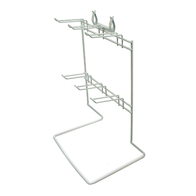 6 Hook White Counter Top Retail Shop Display Stand For Accessories (K9B/WHITE)