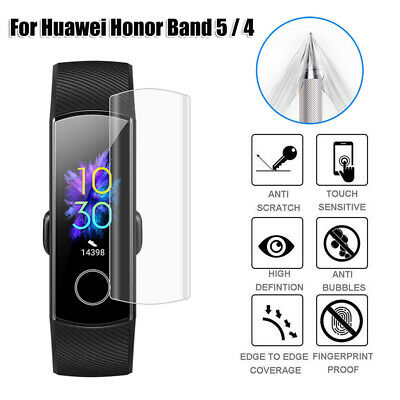 Cover For Huawei Honor Band 5 4 Screen Protectors Hydrogel TPU Protective Film