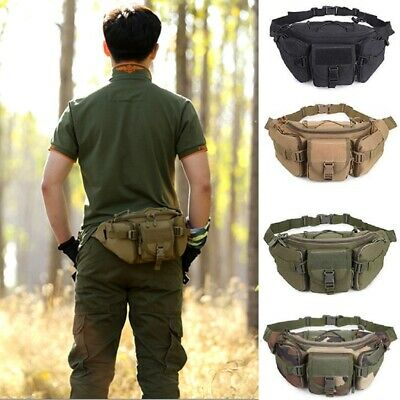 Outdoor Utility Tactical Belt Waist Pack Pouch Military Camping Hiking Molle Bag