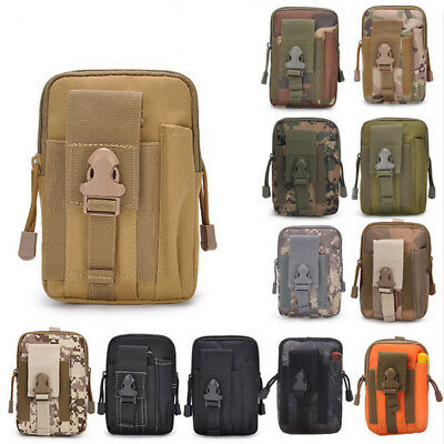 Tactical Molle Utility Pouch Waist Pack Belt Bag Outdoor Pocket Molle Clip Hooks