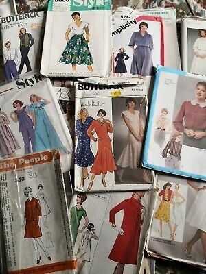 JOB LOT of VINTAGE SEWING PATTERNS - WOMEN'S mainly Size 14