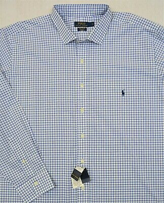 Ralph Lauren Shirt Stretch Long Sleeve Button Front 3XB 4XB Big Tall NWT $99