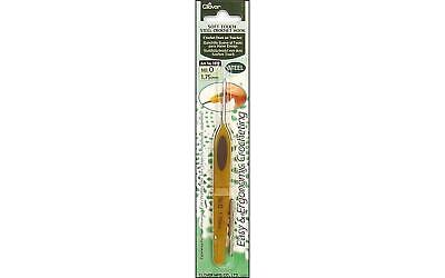 SOFT TOUCH STEEL CROCHET HOOK  NO 8//0.90 MM # 1024 BY CLOVER