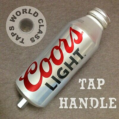 New! COORS LIGHT draft beer TAP HANDLE Silver Bullet bottle uNiQUe Up-cycled