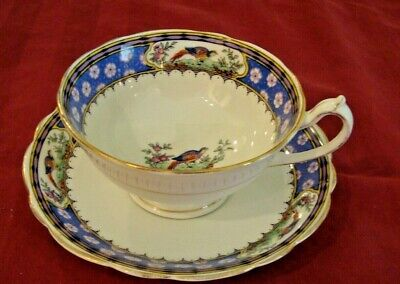 PARAGON England FOOTED CUP & SAUCER  Bone China  OLD STAR Pheasant Design