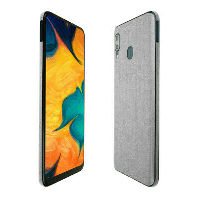 Skinomi Brushed Aluminum Skin Cover for Samsung Galaxy A20 [SM-A205G-DS]