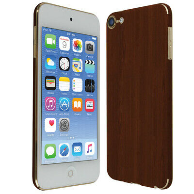 Skinomi Dark Wood Skin Cover for Apple iPod Touch [7th Gen, 2019]