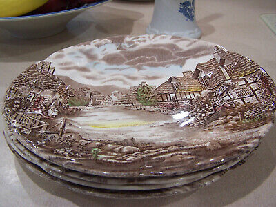 Johnson Brothers Olde English Countryside 4 Dinner Plates GC