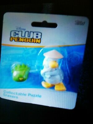 Ninja and Puffle Club Penguin Collectable Puzzle Erasers iwako