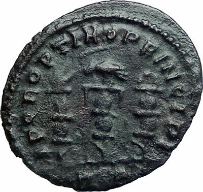 CONSTANTINE I the GREAT 312AD Rome Authentic Ancient Roman Coin STANDARDS i78552