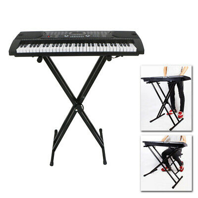 "61 Key Piano Keyboard ""X"" Stand Electric Organ Rack Folding Iron"