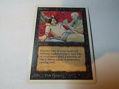 MAGIC THE GATHERING UNLIMITED CARD SACRIFICE ex