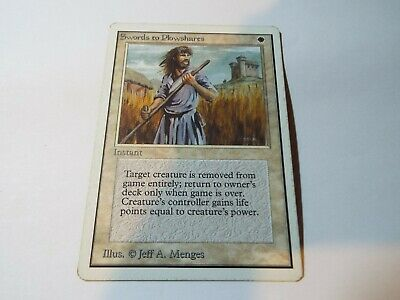 MAGIC THE GATHERING UNLIMITED CARD SWORDS TO PLOWSHARES ex