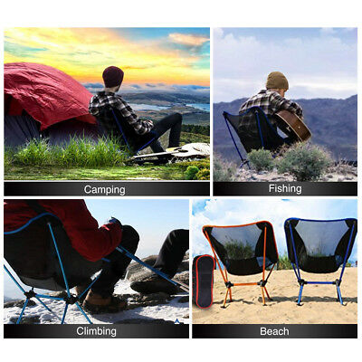 Folding Camping Chair Outdoor Hiking Ultra-light Portable Foldable Chairs Hot UK