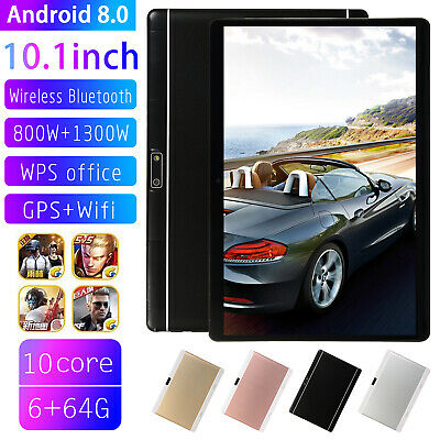 """10.1"""" HD Game Tablet Computer PC Android 8.0 6+64GB Dual Camera Tablet Hot"""
