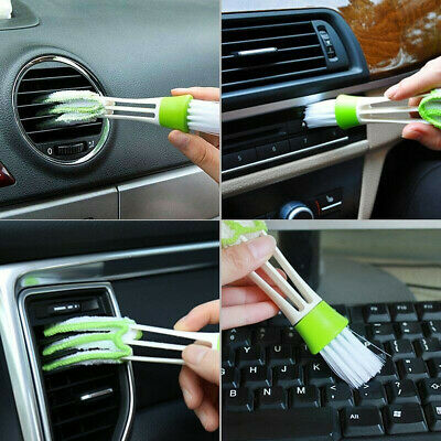 Plastic Cloth Car Brush Cleaning Accessories Auto Air Conditioner Vent Cleaner