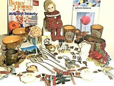 Junk Drawer Eclectic Estate Lot SCHID Musical Shelf Doll Jefferson Cup Stamps