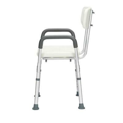Heavy Duty Bath Bench Shower Tub Chair Seat with Removable Armrest Backrest