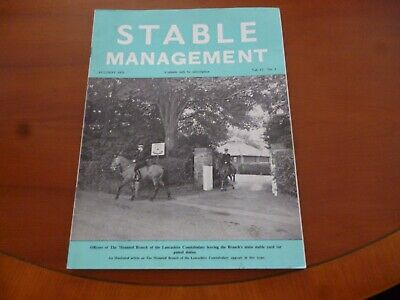 Stable Management August 1975 Mounted Branch Lancashire Constabulary Horse *Read