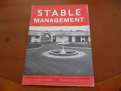 STABLE MANAGEMENT OCTOBER 1976 IRISH NATIONAL STUD Co. KILDARE HORSE PONY *READ*