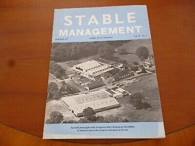 Stable Management February 1977 Lovegroves Stud Oxfordshire Horse Pony *Read*