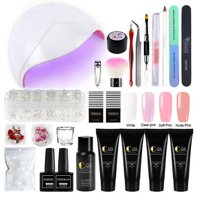 Poly Extension Gel Quick Building à Ongle Faux Ongle Construction 36W UV LED Lam