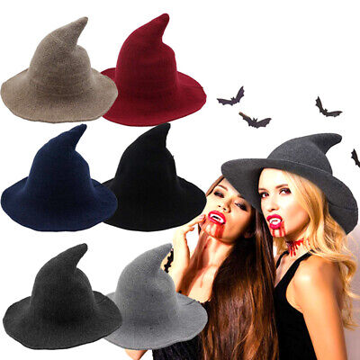 US! Halloween Women Witch Hat Modern Witch Hat Made From High Quality Sheep Wool