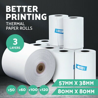 Emajin Eftpos Thermal Paper Rolls 80x80 57x38 mm Cash Register Receipt Roll Bulk