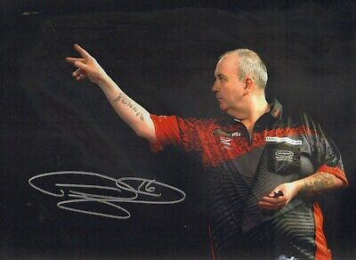 PHIL 'The Power' TAYLOR -16 x World Darts Champion - SIGNED 12x16 PHOTO - AFTAL