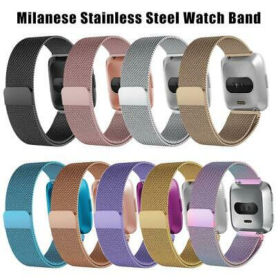 Milanese Loop Metal Band Stainless Steel Wrist Band Strap For Fitbit Versa Lite