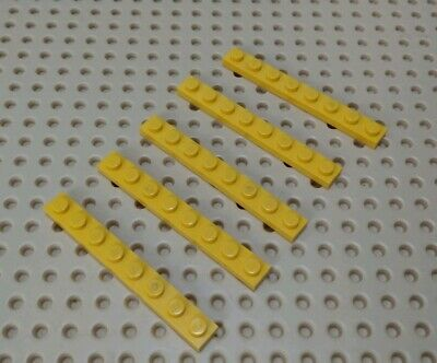 1 x 8 Plate YL6 YELLOW LEGO x 6 3460