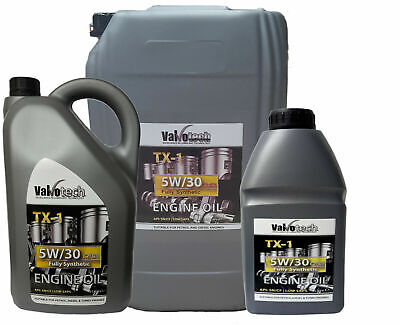 5W30 Fully Synthetic Engine Oil Car Van Low Saps C2 C3 1L 5L 20L Valvotech