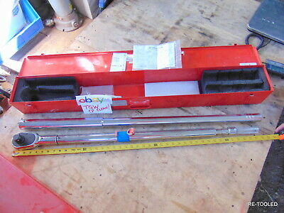"""70"""" Wright Tool 8447 1 Drive Torque Ratchet Wrench 200 - 1,000 FT LBS. 1"""" CLEAN"""