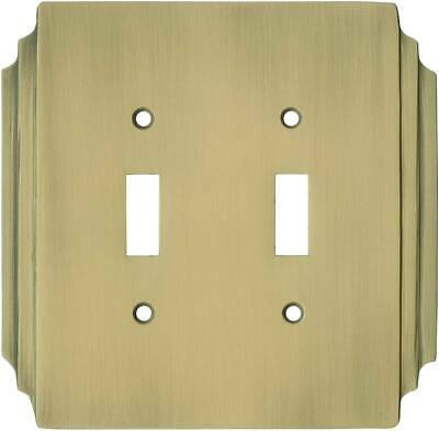 Art Deco Miami Beach Antique Brass   Switch Plates, Wall Plates & Outlet Covers