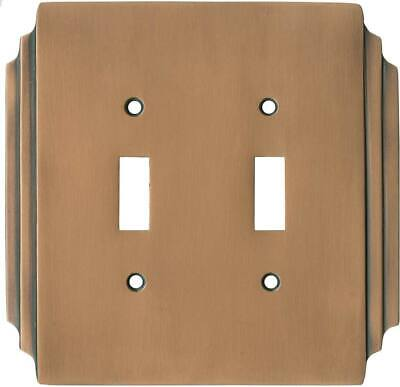 Art Deco Miami Beach Antique Copper  Switch Plates, Wall Plates & Outlet Covers