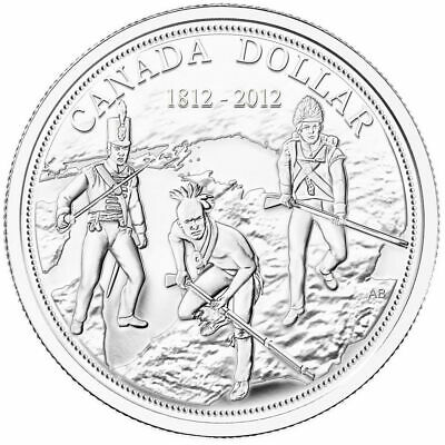 200th Anniversary War of 1812 - 2012 Canada BU Silver Dollar