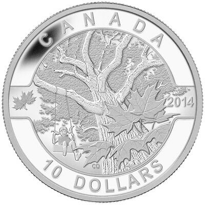 Down by the Old Maple Tree - 2014 O Canada Series $10 Fine Silver