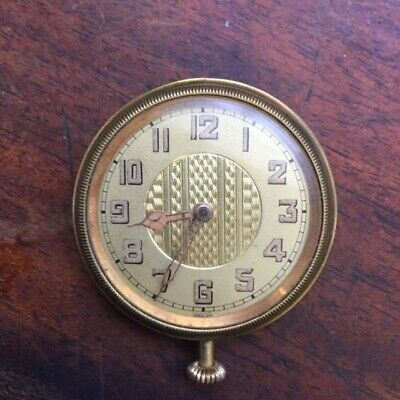 Antique Malleray Watch Co. Swiss 6 Jewel travel watch clock .Working order