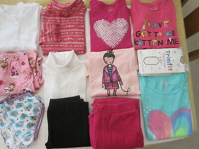 Girls LOT Lg Sleeve Tees Leggings Pj's Sz 7-8 Gymboree Childrens Place Circo