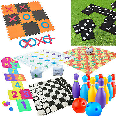 New Outdoor Garden Games Kids Family Fun Activity Giant Toys Bowling Dominoes