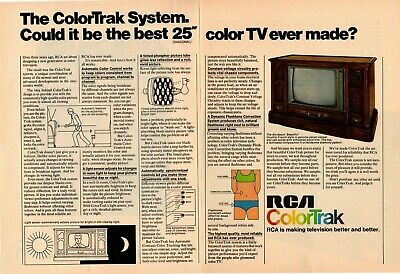 "1975 RCA ColorTrak System ""Could Be The Best Color TV Ever Made"" 2-Page Print Ad"