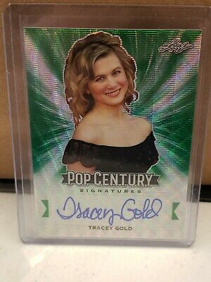 2019 Leaf Pop Century Metal TRACEY GOLD #2/2 Green AUTO! SSP GROWING PAINS